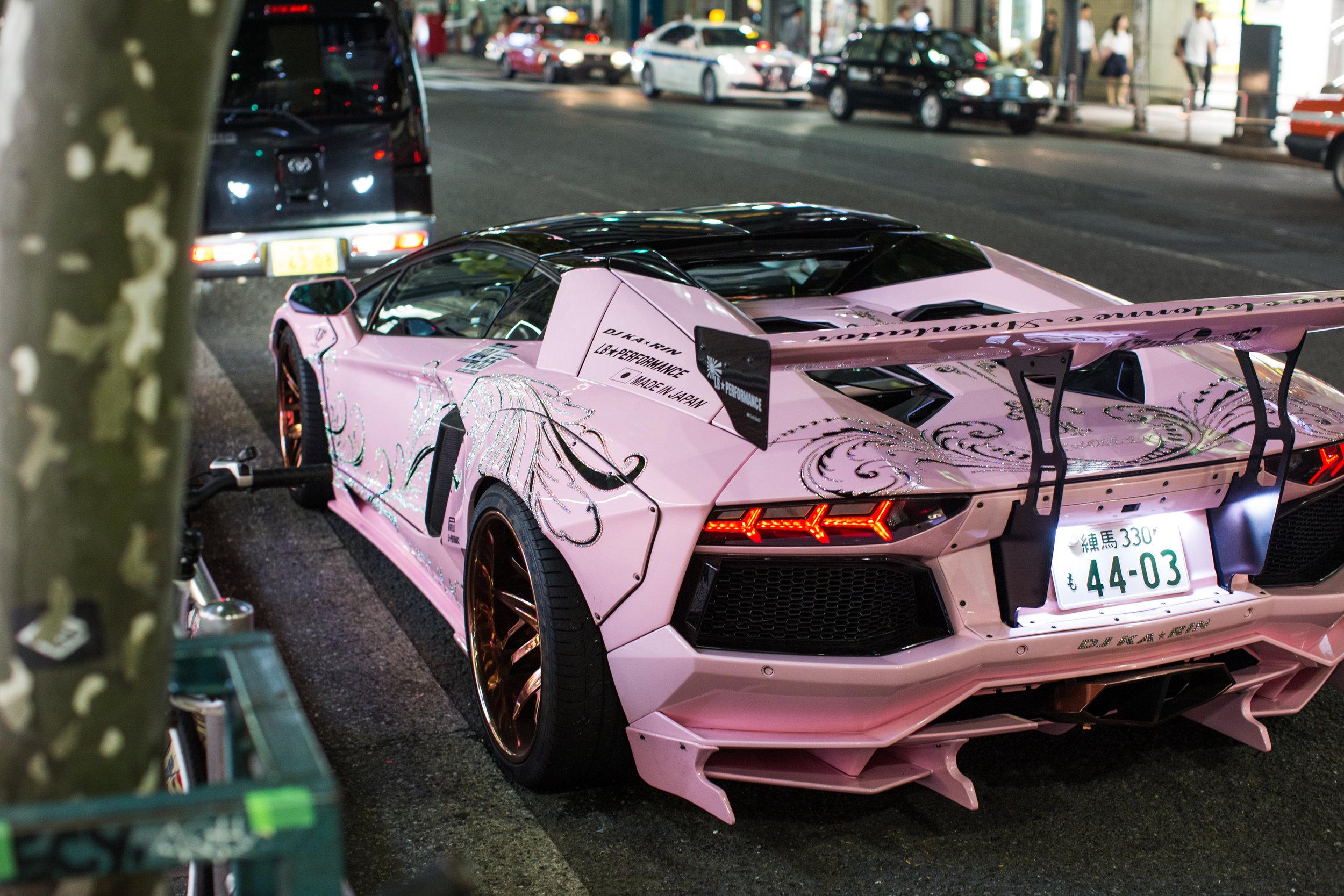 ' Powerglide ' by Rae Sremmurd | DJ KARIN's infamous pink and copper Lamborghini Aventador.