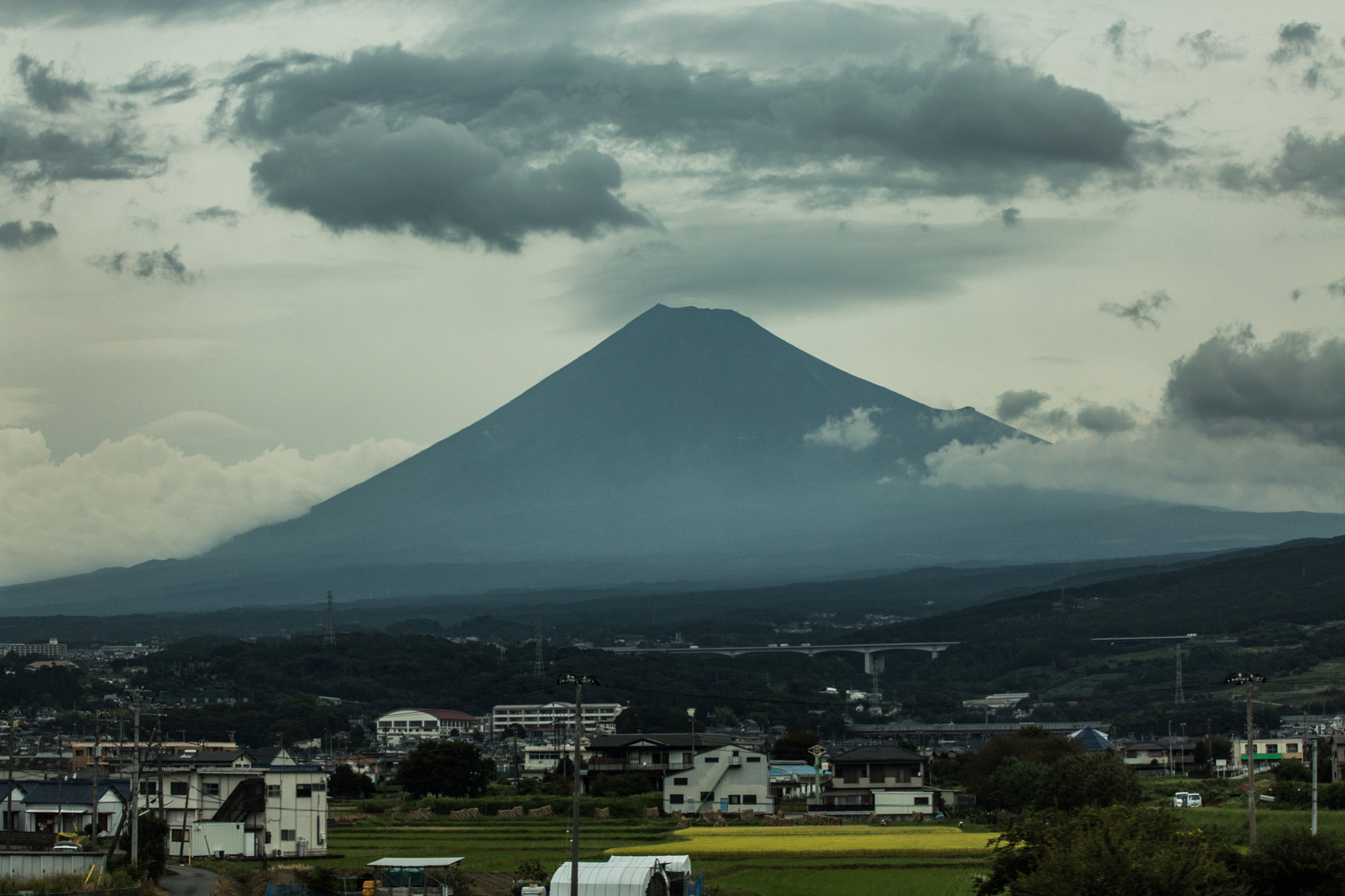 ' Kids See Ghosts ' by GOOD Music | Mount Fuji is hugged by clouds as we travel on a rainy morning.