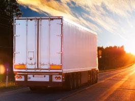 Warehousing and logistics truck