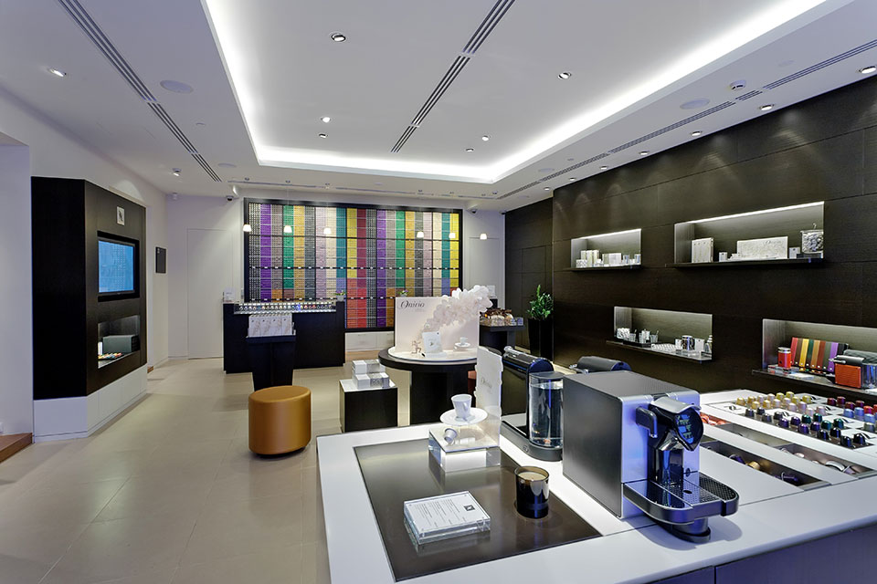 A Nespresso store in St Petersburg, Russia offers customers the chance to taste and experience their coffee in a retail environment. Image credit: Nespresso Media Library.