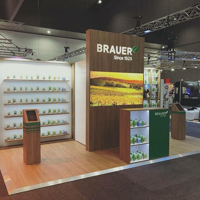 @braueraus, getting good mileage out of their exhibition stand kit in different configurations for Alibaba Expo's Sydney and Melbourne! #Brauer #NaturalMedicine