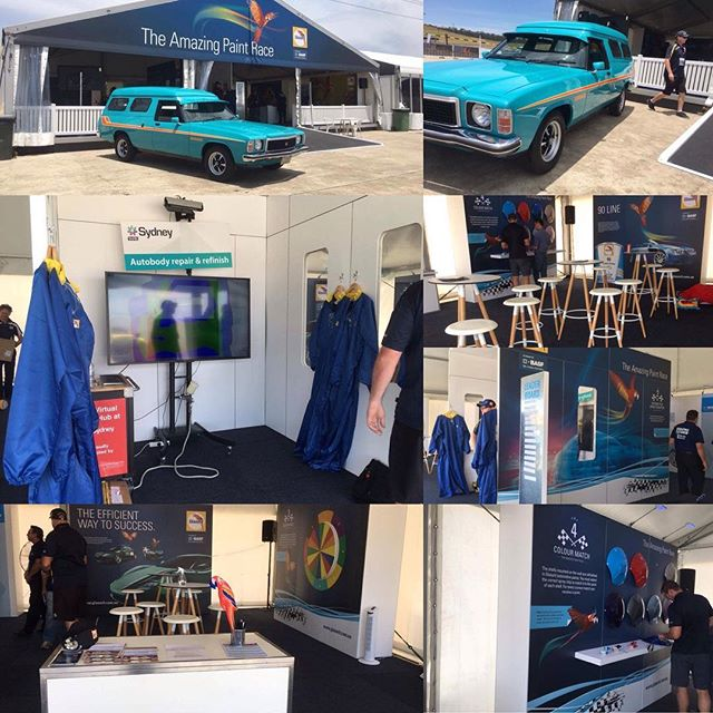 A fabulous activation for @basf_global paint brand Glasurit at MotorWorld Sydney! The virtual paint booth is a great activity that the whole family can enjoy! Get down to Sydney Motorsport Park- Eastern Creek Raceway to check it out! #motorworldsydney #sydneymotorsportpark #glasuritamazingpaintrace