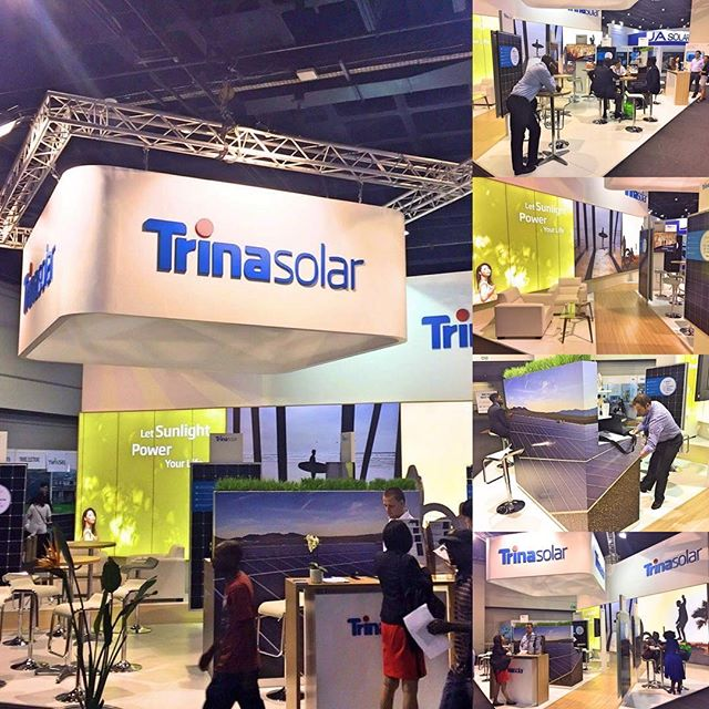 Some pictures from a solar industry event in sunny South-Africa, for Trina Solar. Australian creative by Andy, South-African delivery by Julie and team. Cool result!