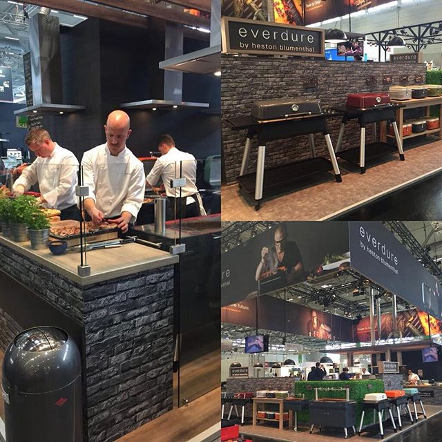 Our head designer, Andy Collins, did a great job designing the Everdure by Heston Blumenthal stand that recently featured at SPOGA in Cologne, Germany. Live demonstrations, cooking displays and massive brand impact. A great international collaboration with our partners Expotechnik group! #spoga2016 #hestonblumenthal