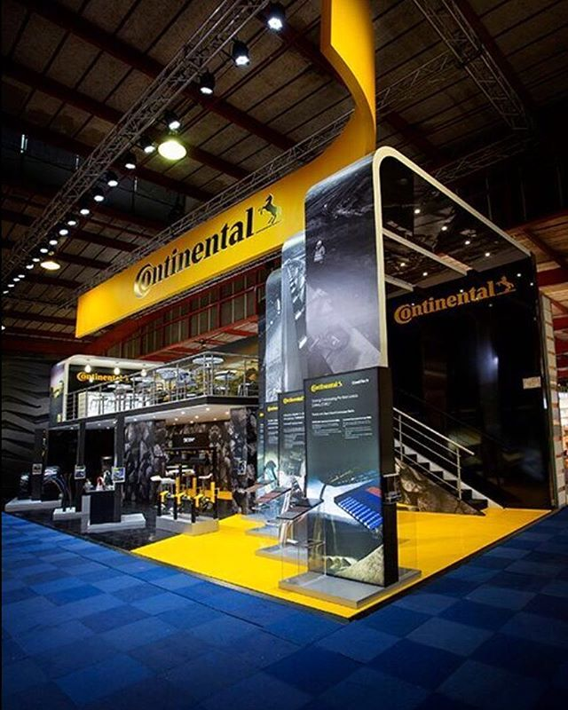 By all accounts one of the most impressive stands at Electra Mining this year. Continental displaying quality and innovation in double deck stand design by Abigail Wright and delivered by our sister company in Johannesburg, led by Dez Smith #electramining2016 #continental