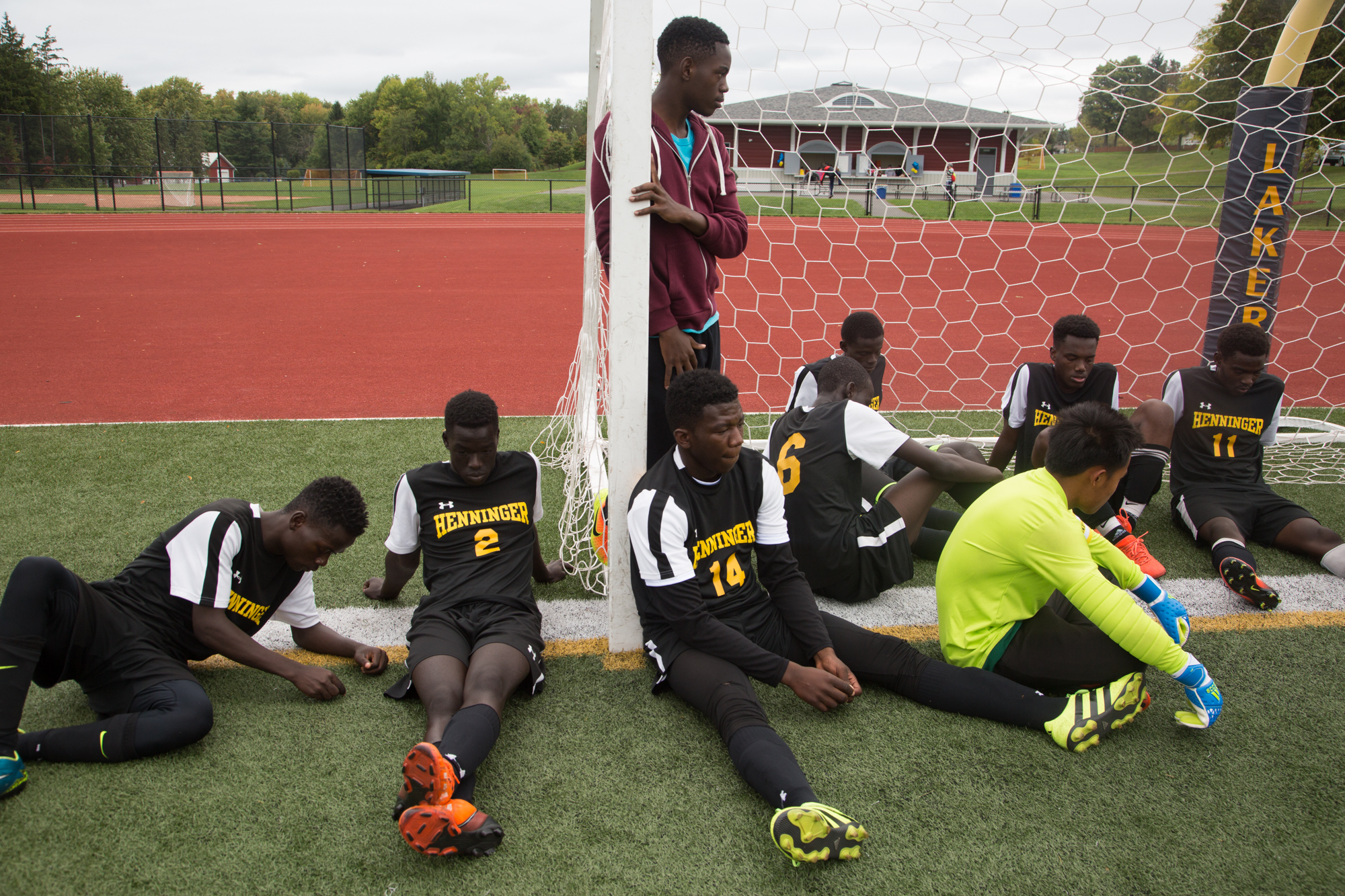 """""""They are like young men but they have to be adults because their parents can't speak English"""", says coach Scott Fiello. Some players in the team have to translate for their parents as they don't speak English, some are the only ones who know how to drive in the family, so they have to take these responsibilities in addition to studying and playing soccer."""