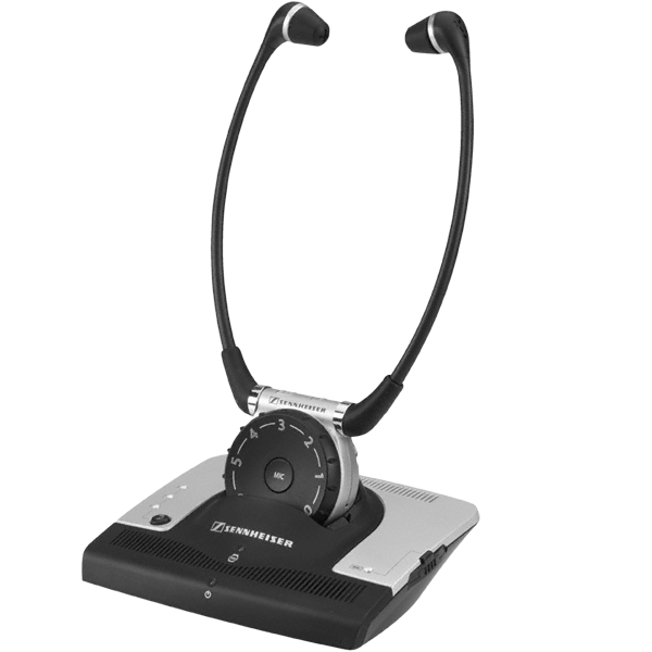 Set 900 - Infrared headset with rubber ear buds and individual volume control.