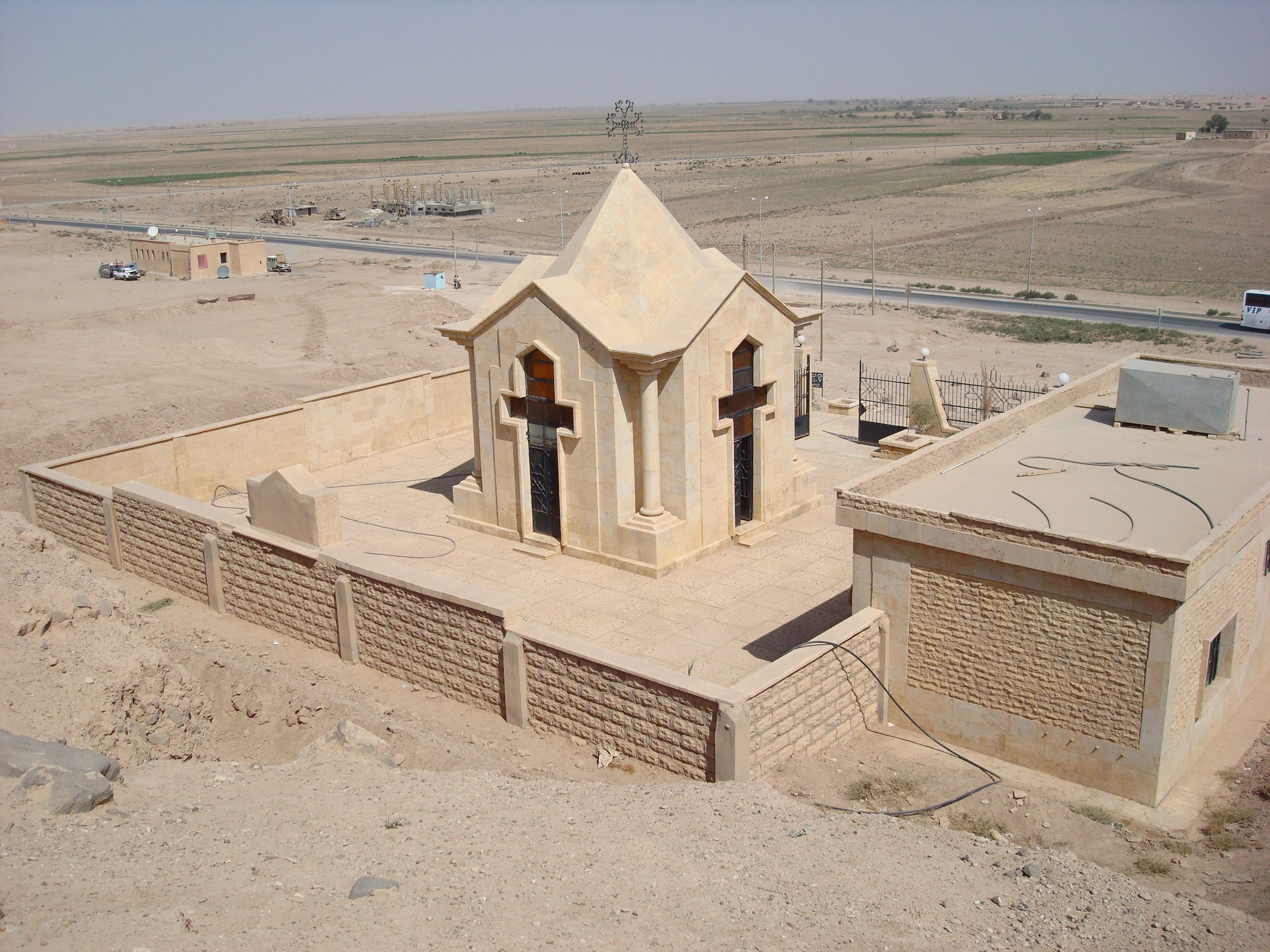 Deir Zor: The chapel built by the site of a mass grave discovered during the construction of the highway