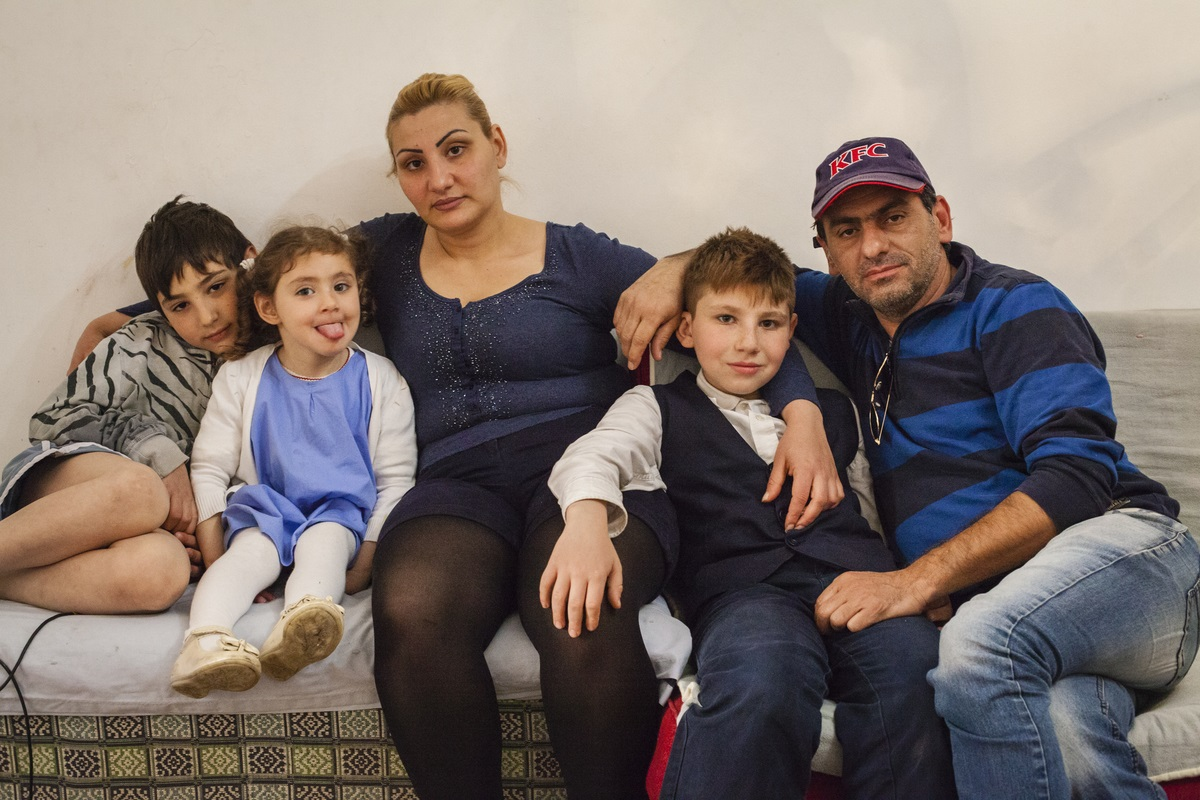 Rozet and her three children; Shant, Mari, and Krist. Yerevan, Armenia. May  2015.  Photo credit Ghadah Alrawi