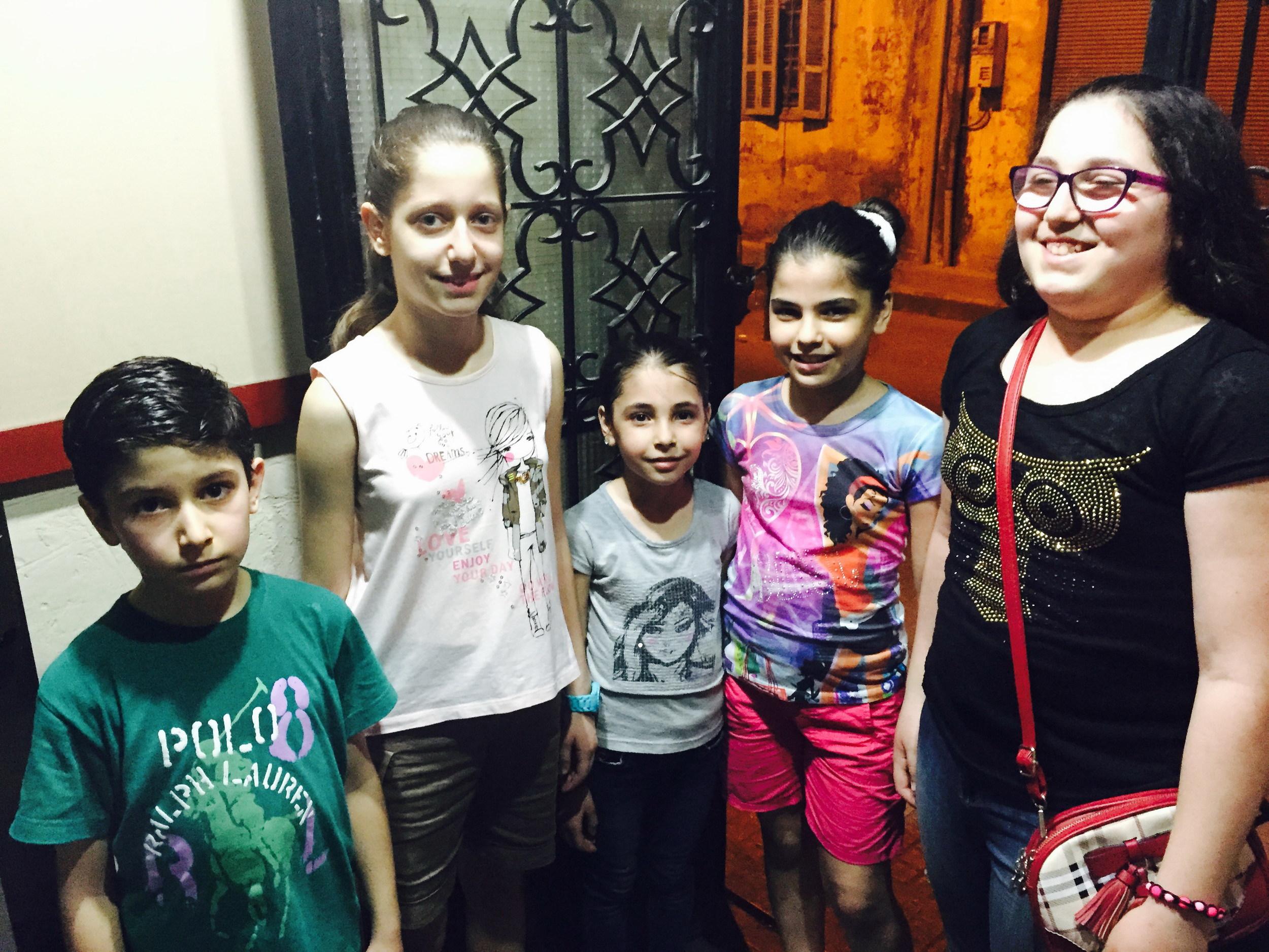 Syrian refugee children in Bourj Hammoud