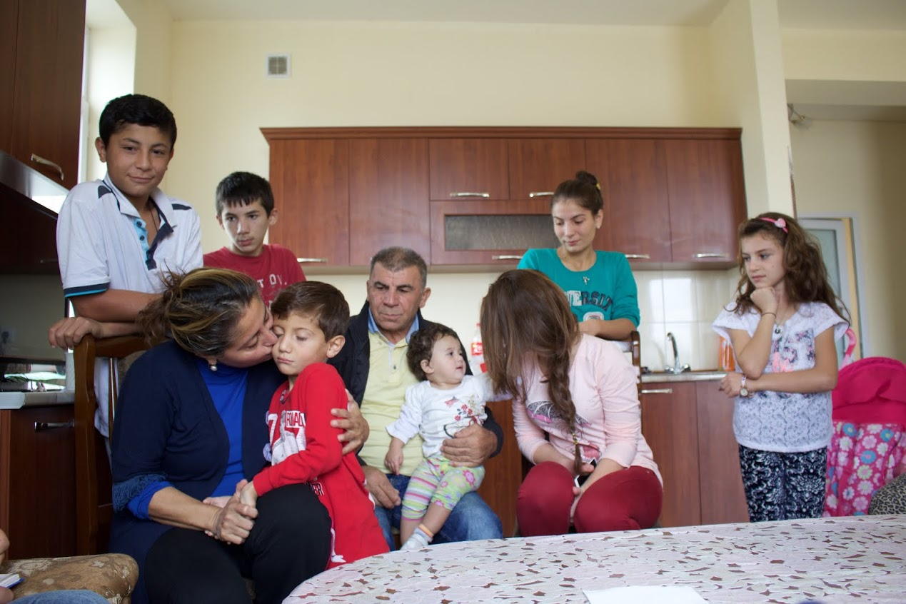 Ilona will her extended family in their new home in Yerevan
