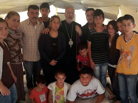 The Tomassians at the refugee camp in Suruc, Turkey