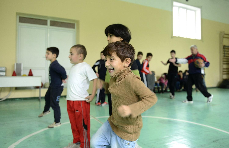 Syrian refugee children in Armenia's public schools. Photo credit Zaven Khatchikian