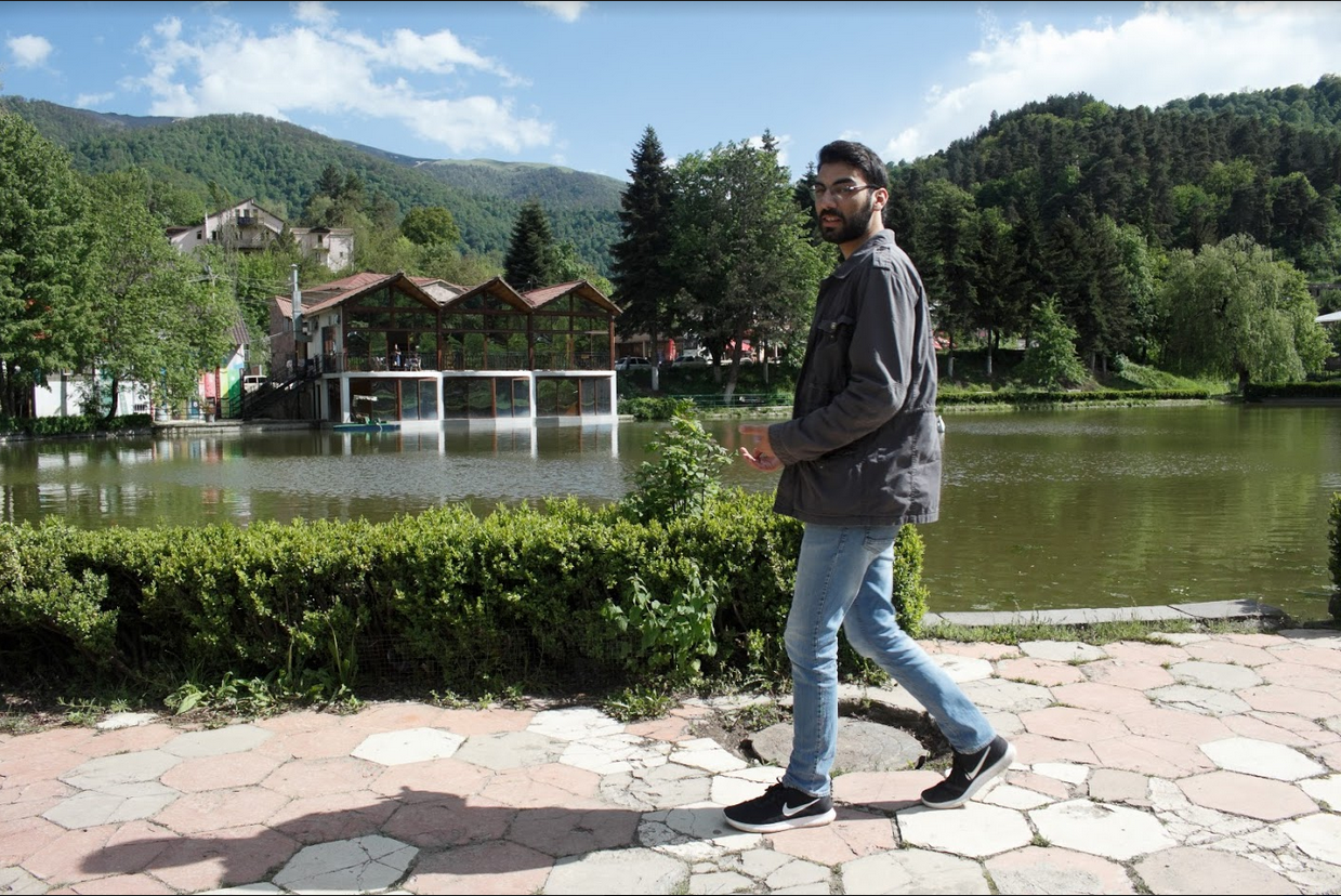 Syrian refugee Khachig Charshafian in Dilijan where he and his family were settled during ARP's regional pilot integration project.  Photo credit James Aram Elliot on assignment for the ARP, 2017.
