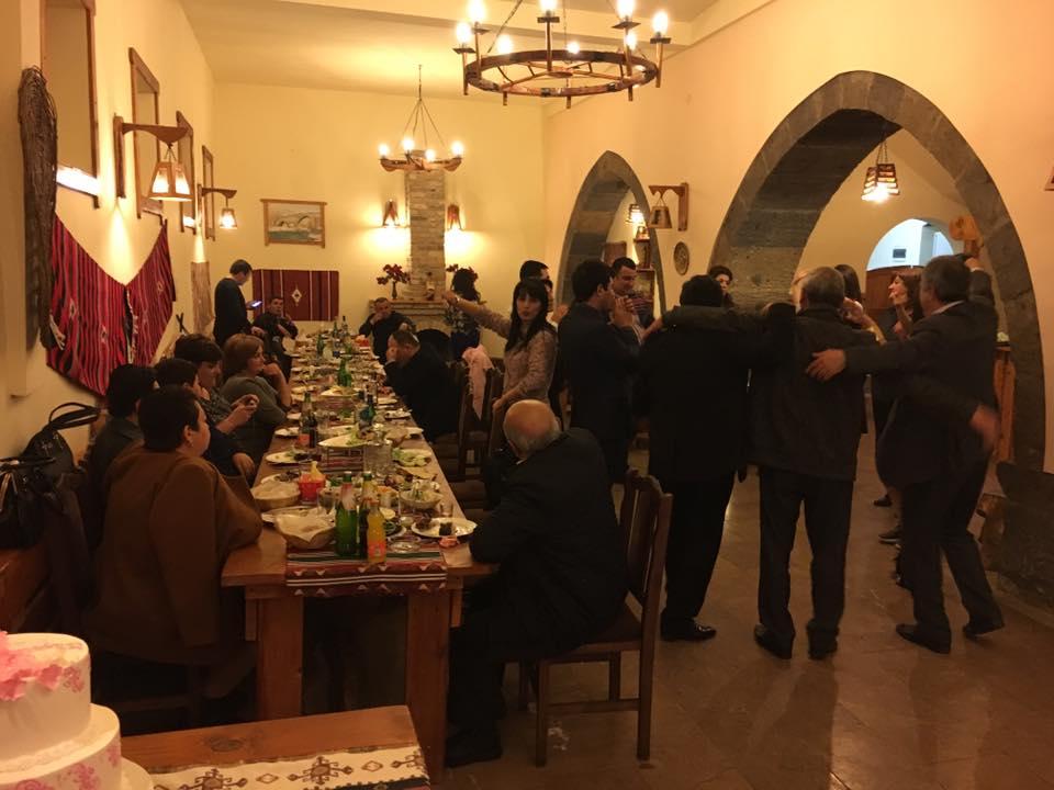 Dinner party at Old Ashtarak restaurant