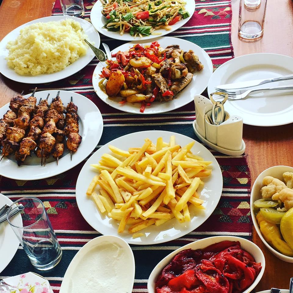 Homemade mazzeh assortment. Old Ashtarak restaurant