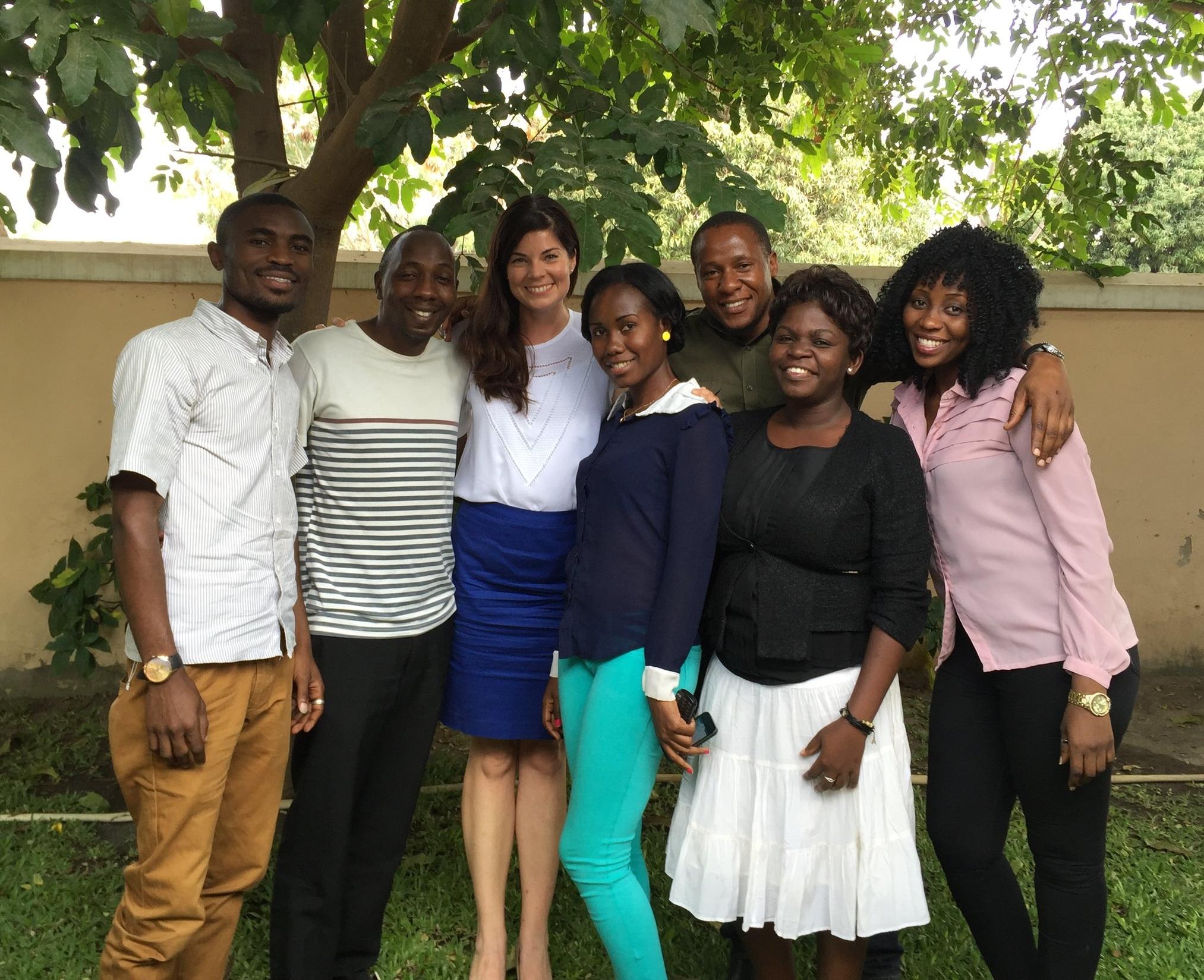 Members of our research team in Shinyanga, Tanzania.