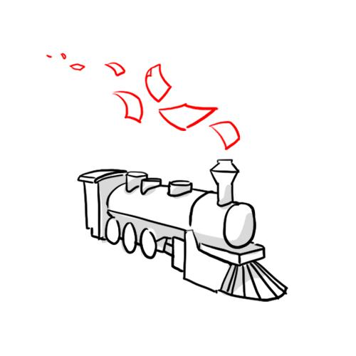 Chemin de fer   Maquette en réduction des pages d'un ouvrage