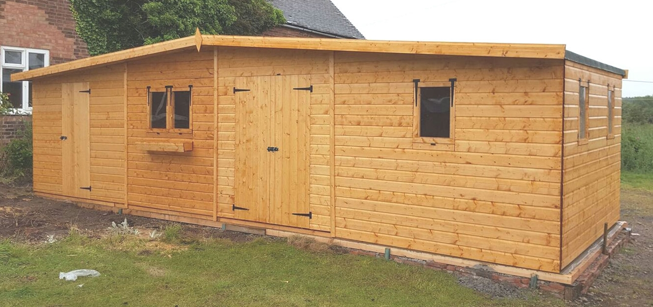 Excellent handmade sheds made from quality materials that offers a low cost solution to a desired garden building to suit all purposes in the garden. All the sheds are made with timber framework and cladding of shiplap tongue & groove that combines to make a very sturdy and attractive garden facility.