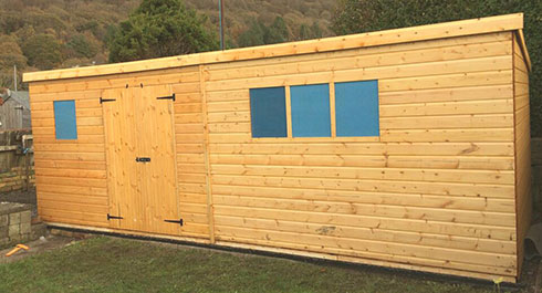 LARGE PENT SHEDS/WORKSHOPS