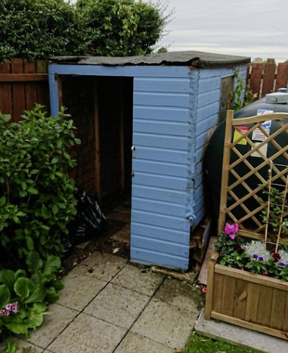 A coat of paint can't hide the fact that this shed needs a complete overhaul