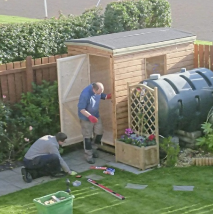Willing workers are needed to fulfil the call of the gospel - as well as the task of building a shed