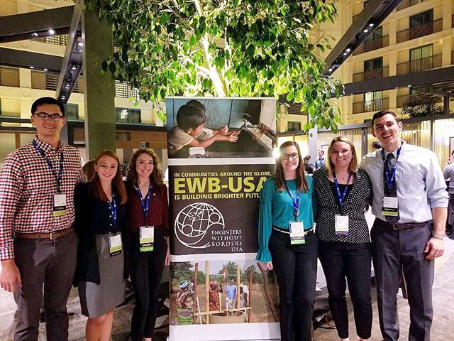 Had an amazing time respresenting the chapter and learning how to best #engineerchange at the @ewbusa national conference this weekend! Great job to our presenters, Becca and Lexie!