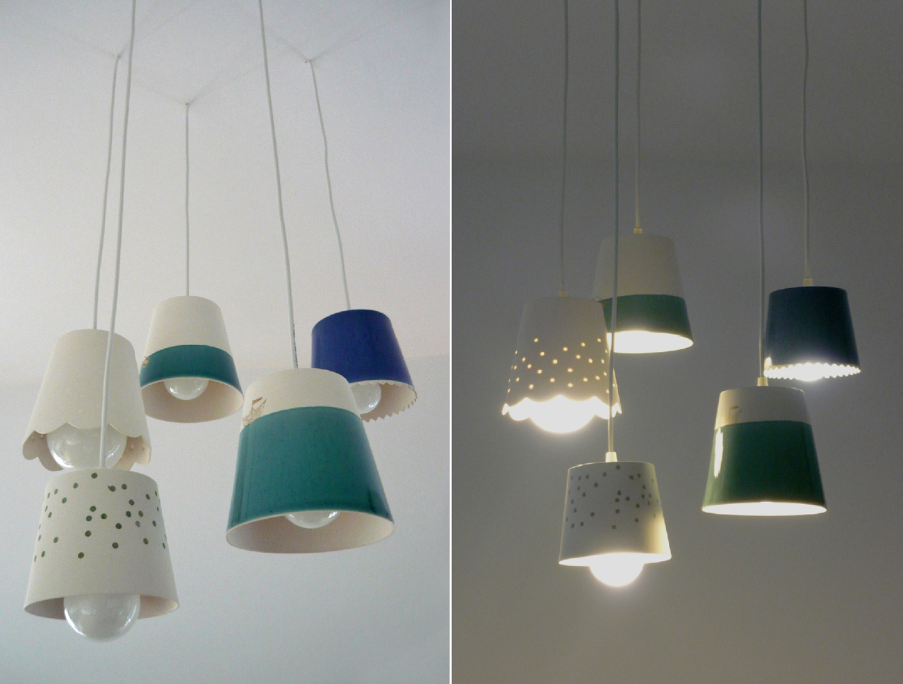 Cozy pendant lamps