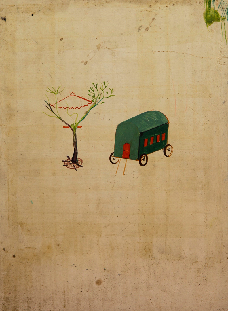 Gypsy Wagon, Umbrella in Tree