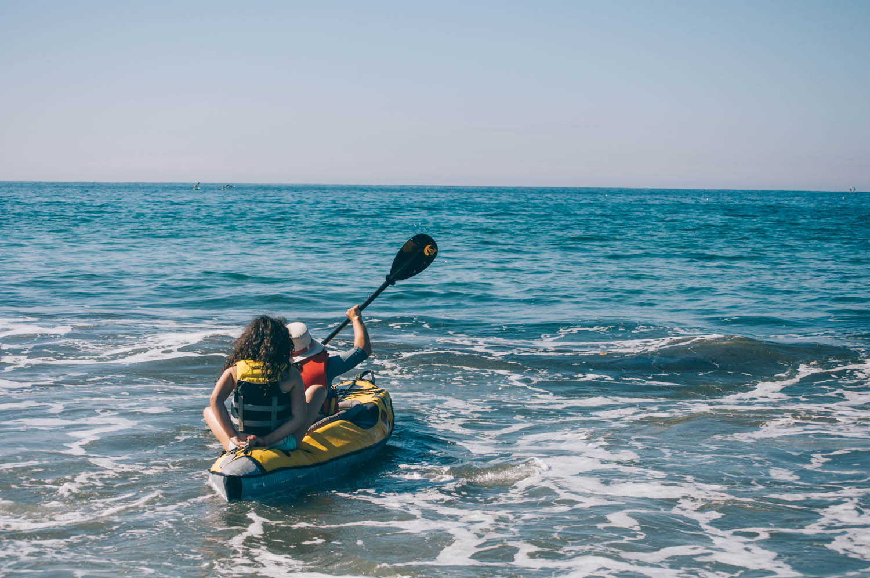 Mara and I kayaking in La Jolla