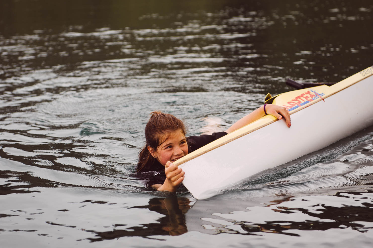 Falling in the cold water is part of the learning curve, especially with the competition boats!
