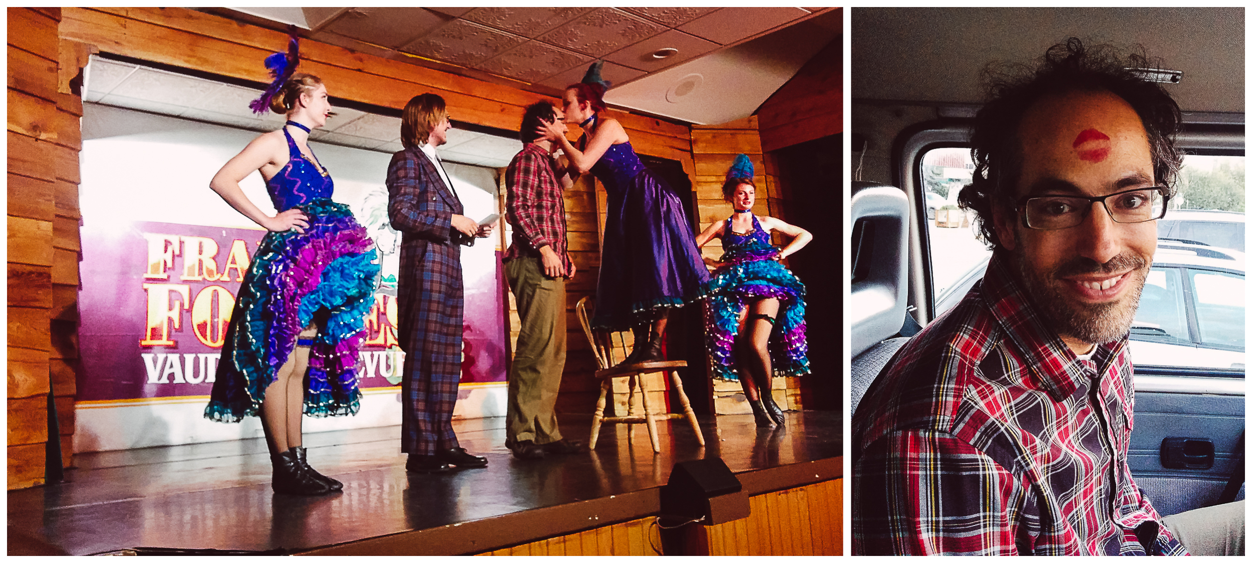 We brought the girls to see the Vaudeville revue show The Frantic Follies and we all had a blast! You should have heard them roar when JF got picked to go on the stage and won the best garter watcher title! What a night!