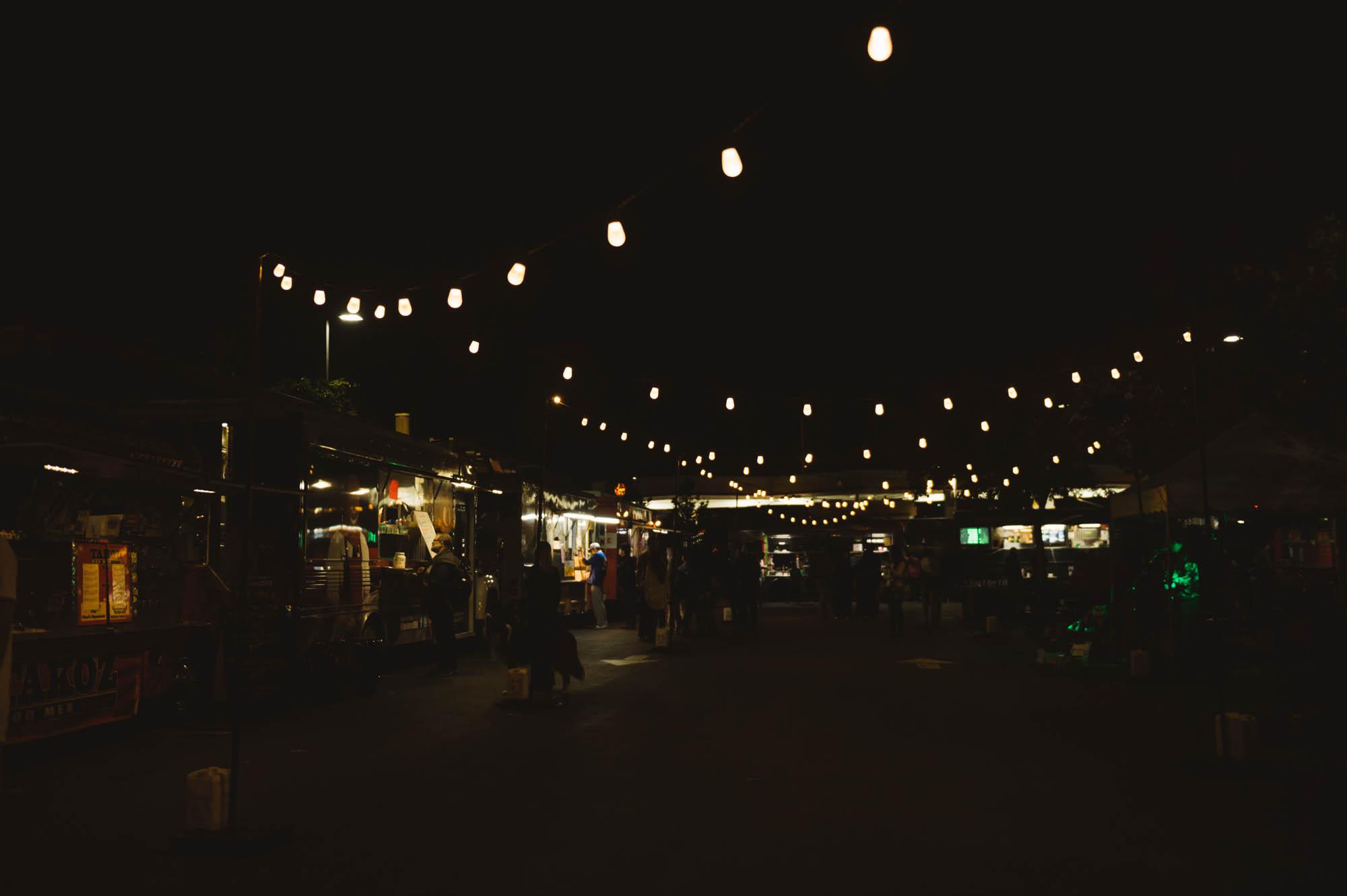 Food carts in San José