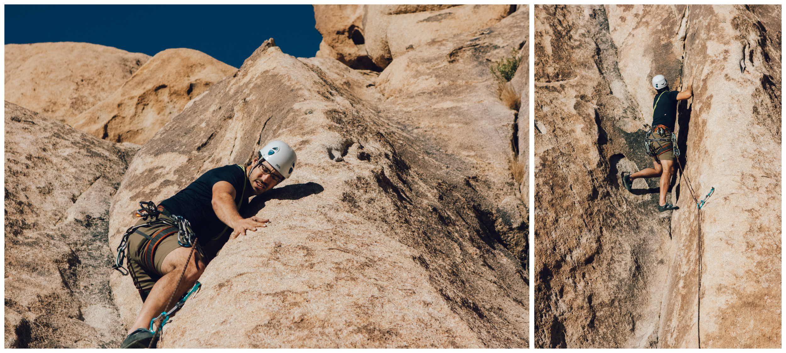 JF is right where Jennifer was when she fell. It was about a a 5 feet fall and her ankle twisted when she landed in the crack (photos by Isabelle Lauzon).