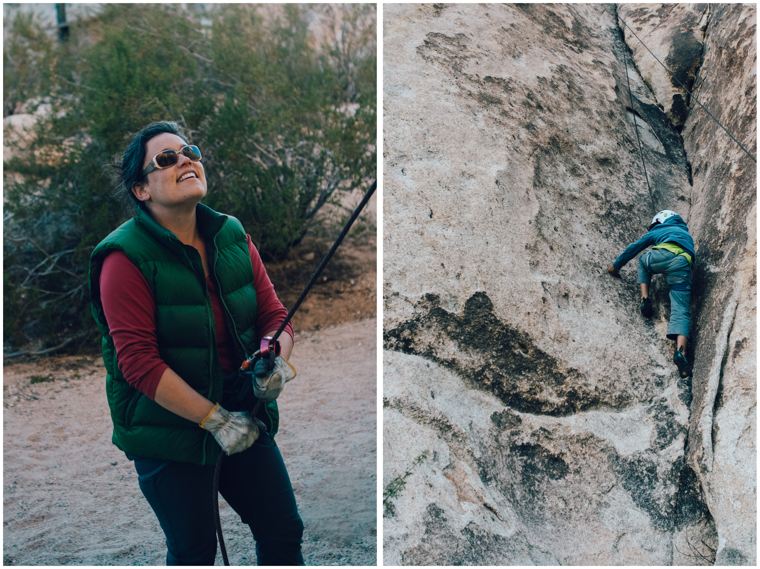 Belaying Alex on his first outdoor climb! It's an honour to introduce friends and family to a sport we love so much (photos by Isabelle Lauzon).