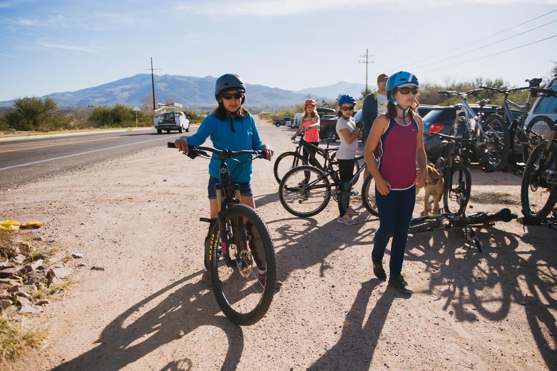 Trying some Yeti bikes at Fantasy Island