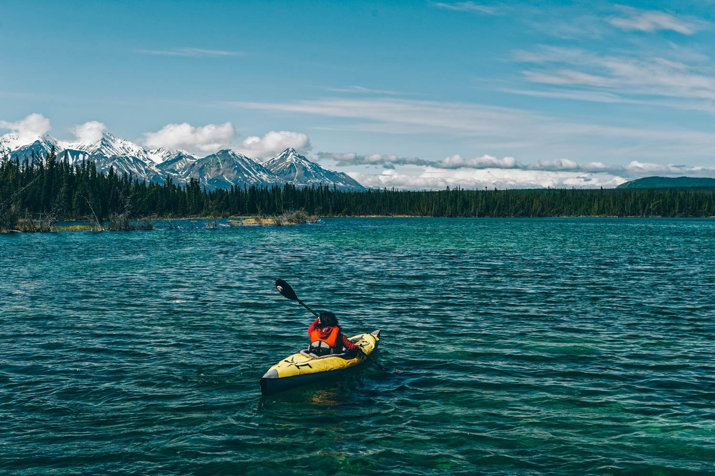 Kayaking on Pine Lake