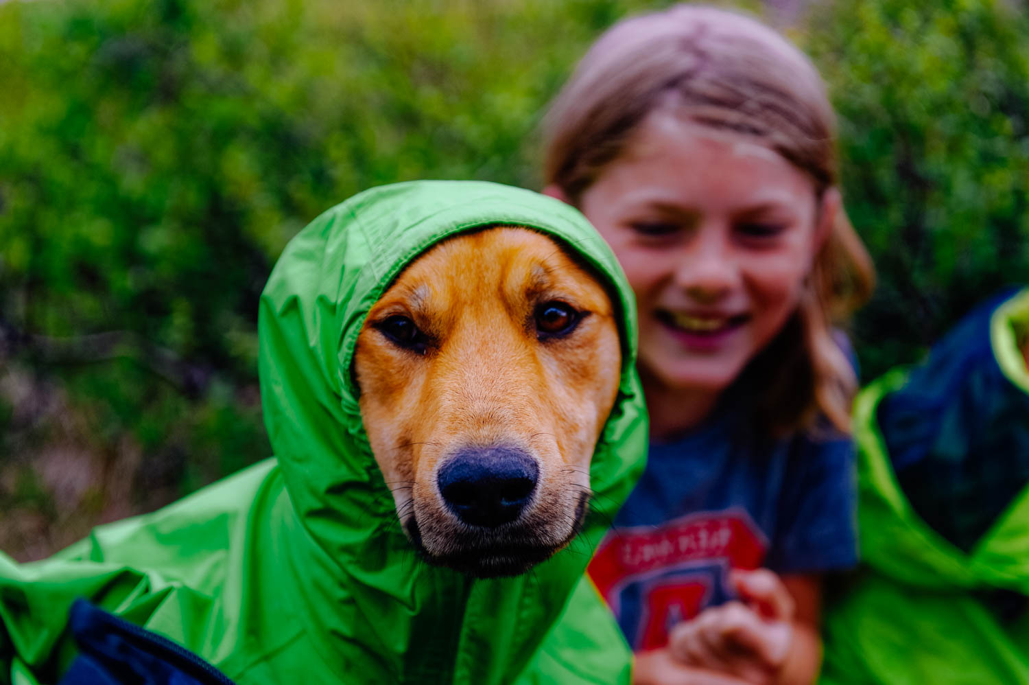 It was crazy windy on the ridge and the kids wanted to make sure that Java would stay warm!