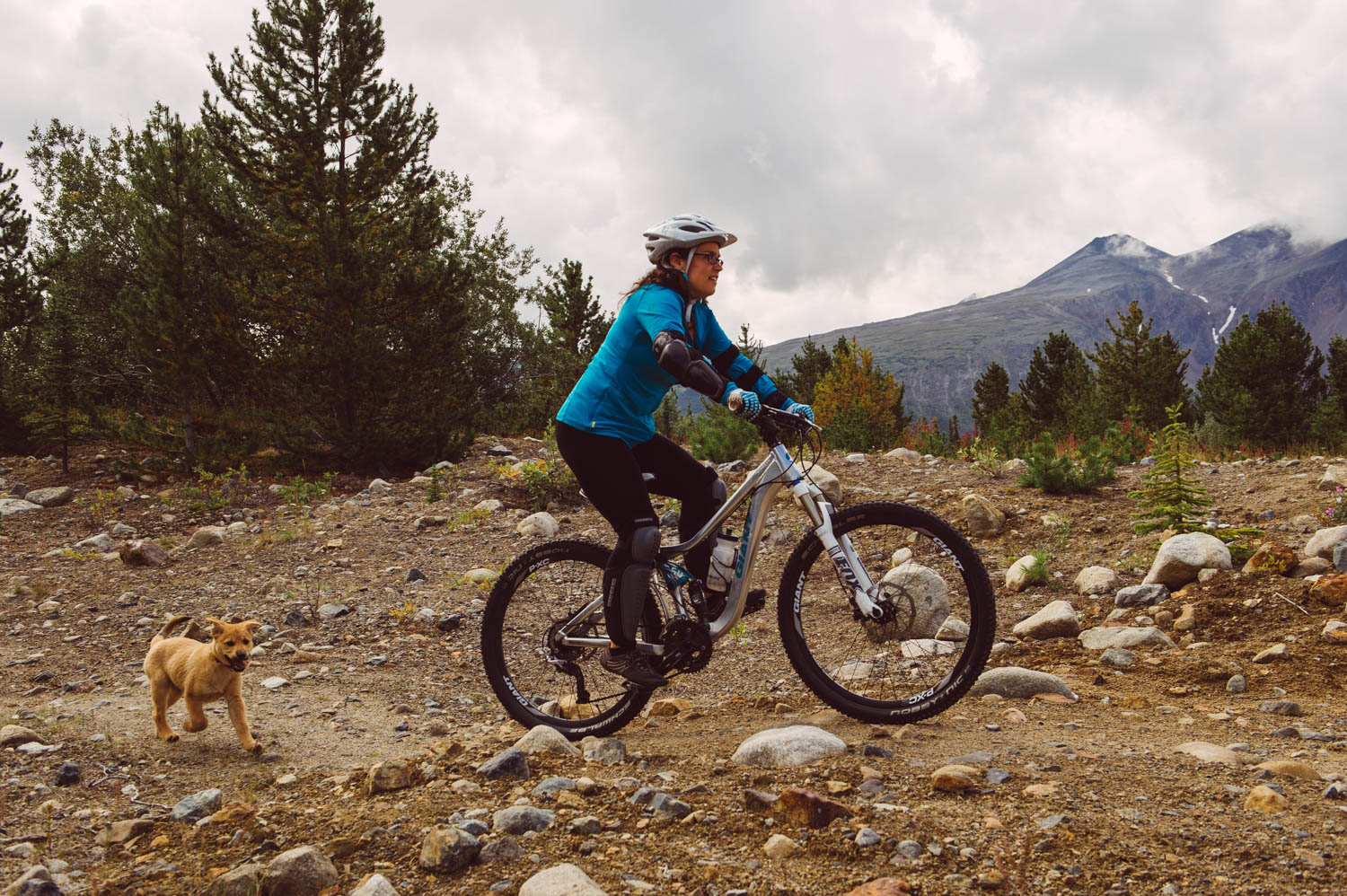 Your first bike ride, on Maggie's Run, in Carcross. That's when I could still be faster than you!
