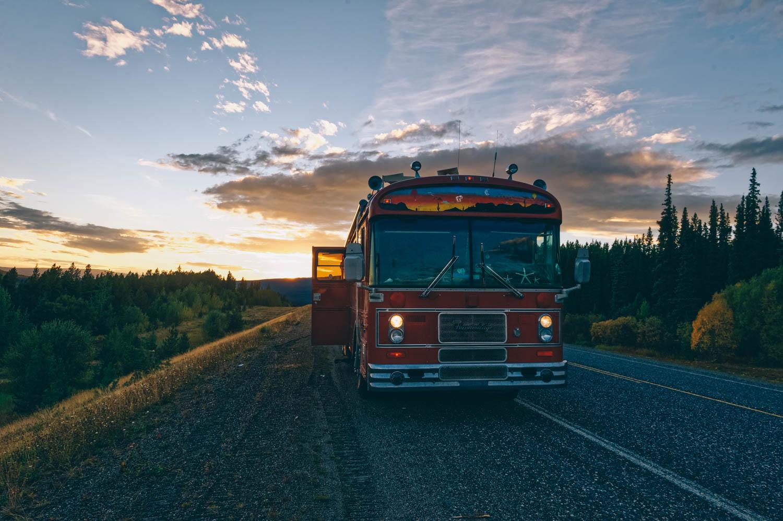 Last sunset on the Alaska Highway.