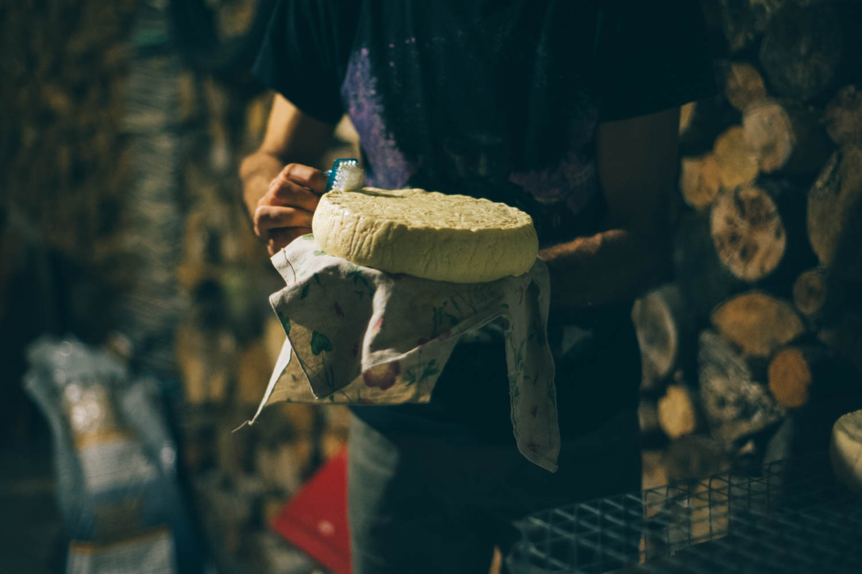Cheese washing.