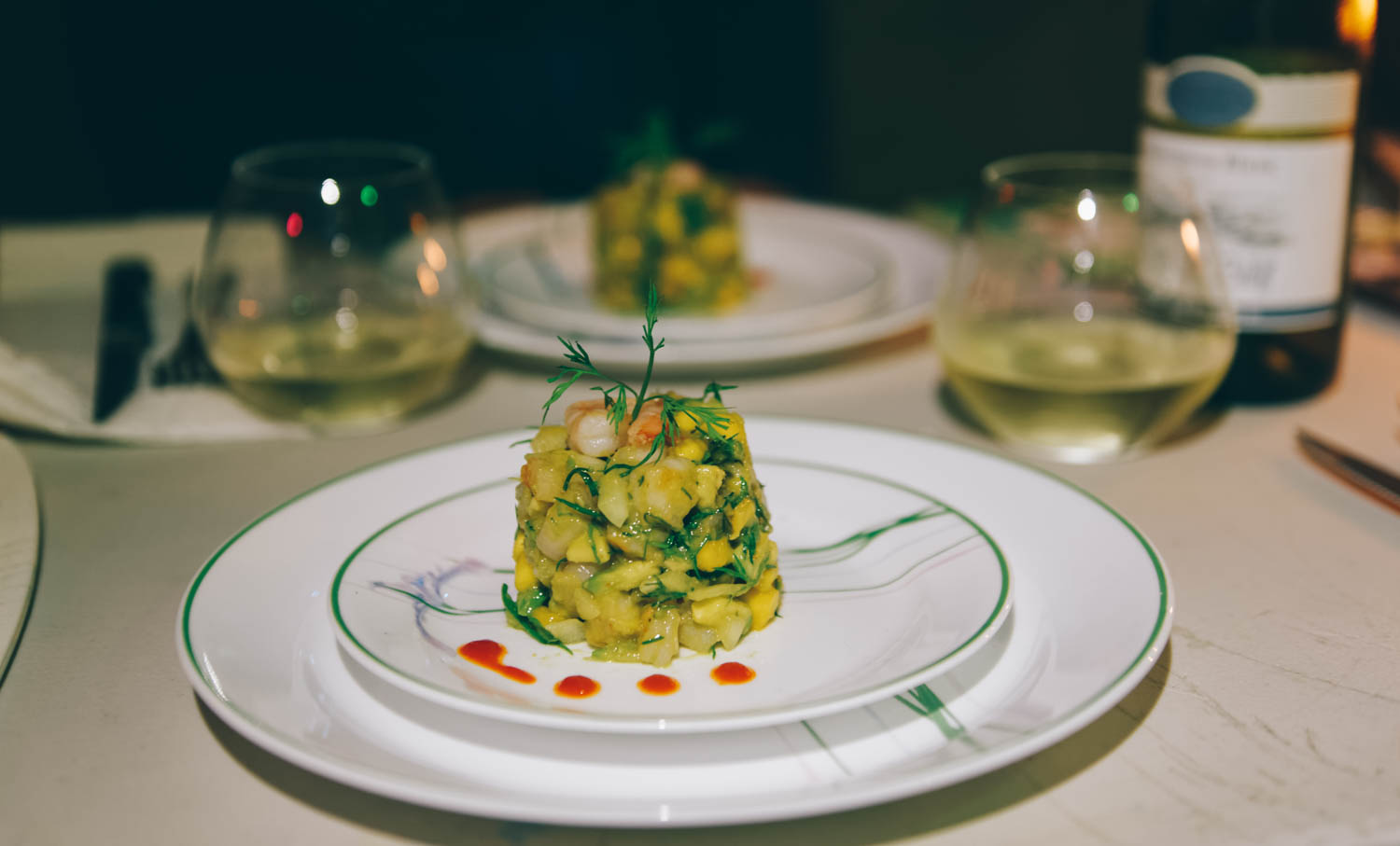 Aïsha prepared us a mango-avocado-shrimp tartare that could not have been better at an high end restaurant.