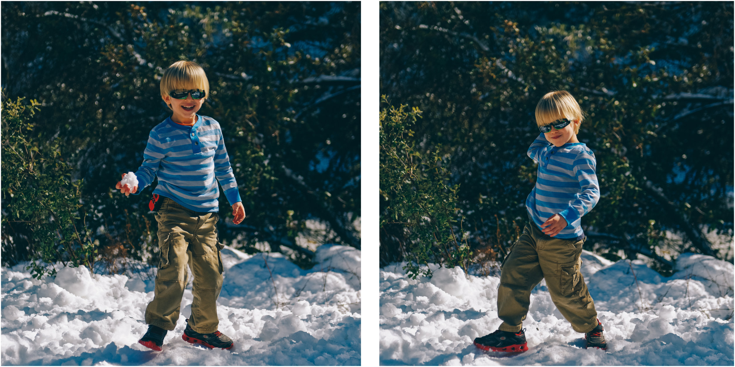 These little Arizona boys haven't seen snow many times in their lives. It was a real treat to see their enthousiasm!