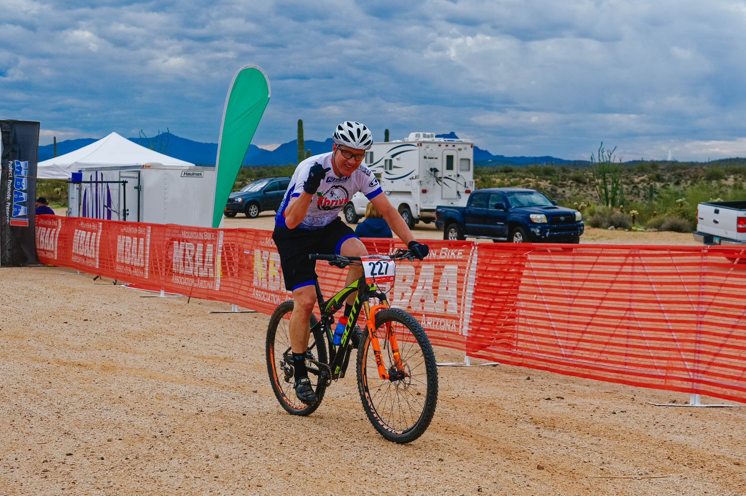 Jason was also racing in the Single Speed Expert category. One more sports' loop to go!