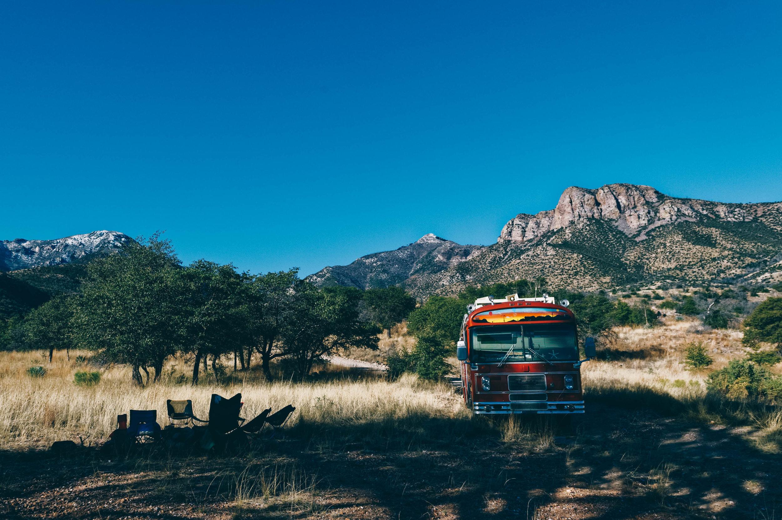 Beautiful boondocking spot at  Miller Canyon .