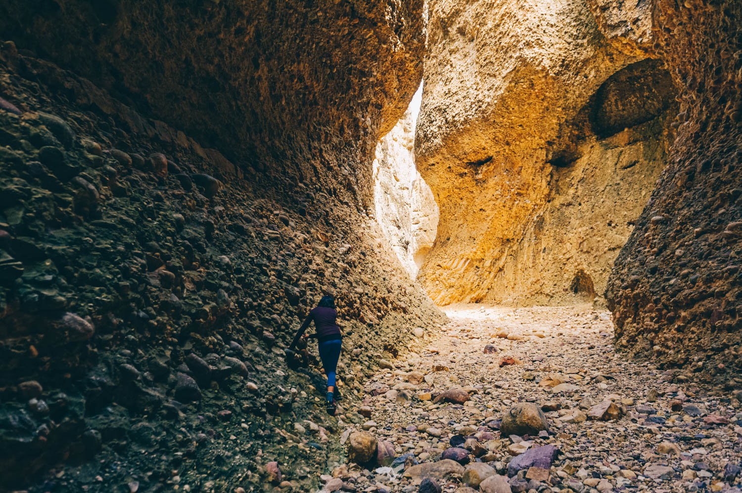 Exploring Box Canyon.