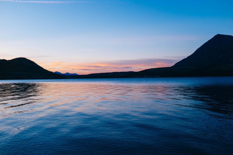 2 am on Kusawa Lake