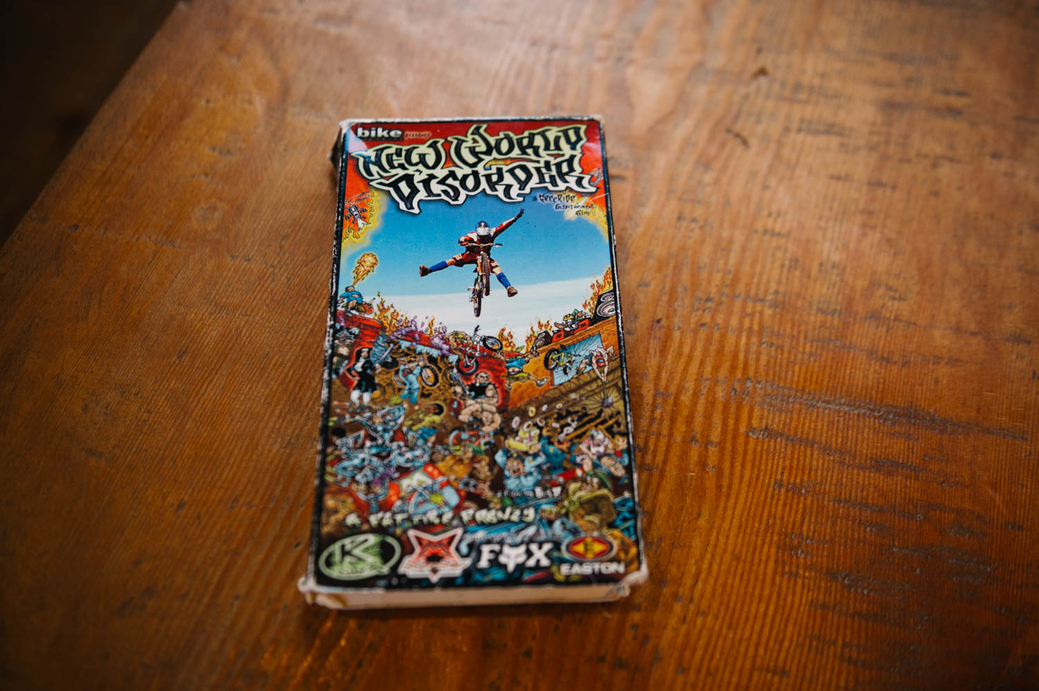 We showed the kids some old mountain biking movies on Saturday night at the Bistro (on VHS, on course, on a real old TV). Who remembers Cranked and Dirty Dreams??