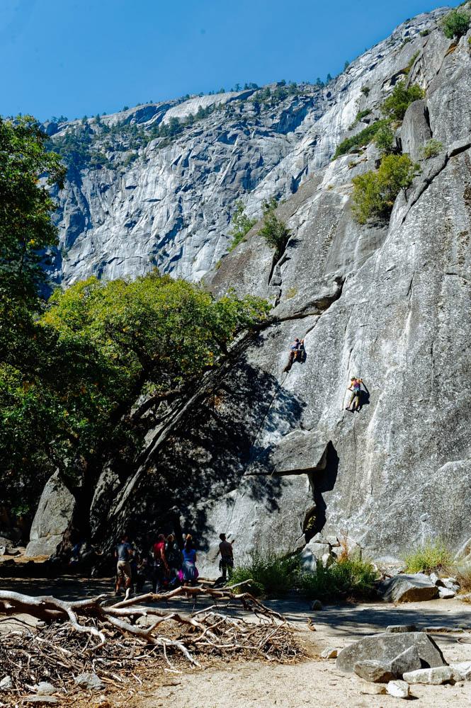 Climbers near Camp 4.