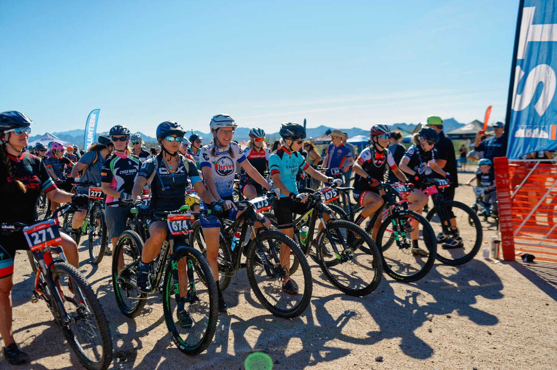 Diedra at the start (women intermediate 40-49)